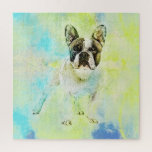 "French Bulldog -Frenchie Dog Jigsaw Puzzle<br><div class=""desc"">French Bulldog -Frenchie Dog</div>"