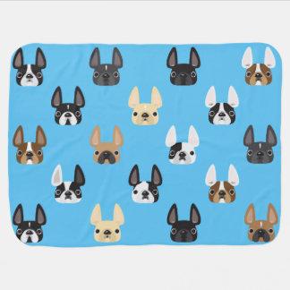 French Bulldog & Friends Fleece Baby Blanket