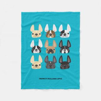 French Bulldog & Friends Fleece Blanket