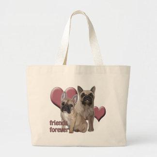 French Bulldog Friends Forever Jumbo Tote Bag