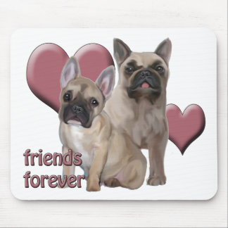 French Bulldog Friends Forever Mouse Pad