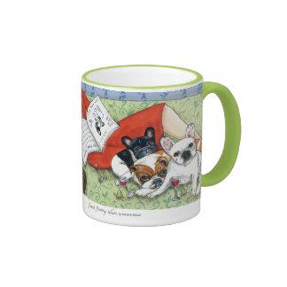 French Bulldog Friends Ringer Coffee Mug