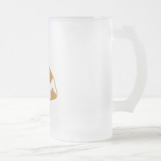 French Bulldog Frosted Glass Beer Mug