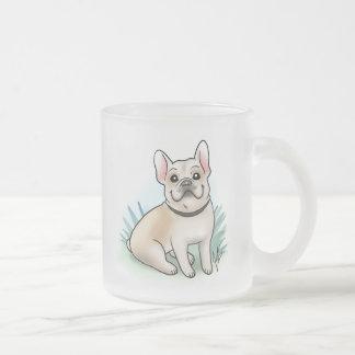 French Bulldog Frosted Mug