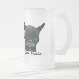 French Bulldog Frosted Mug