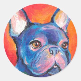 French Bulldog gifts Svetlana Novikova Round Stickers