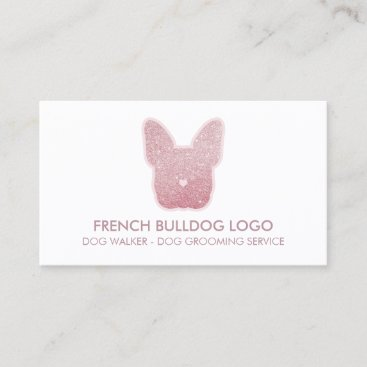 French Bulldog glitter pink sparkling puppy Business Card