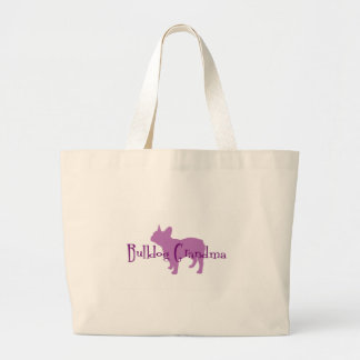 French Bulldog Grandma Large Tote Bag