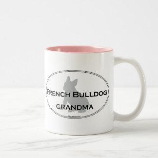 French Bulldog Grandma Two-Tone Coffee Mug