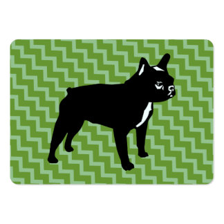 French Bulldog Green Cards Large Business Card
