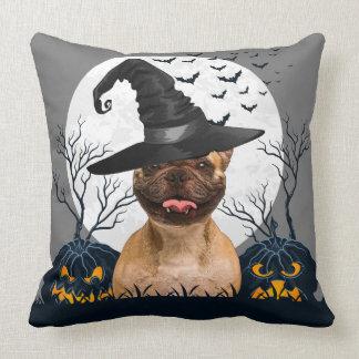 French Bulldog Halloween Pumpkin Patch Pillow
