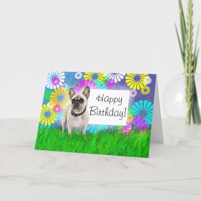 Wondrous French Bulldog Happy Birthday Day Card Zazzle Com Personalised Birthday Cards Paralily Jamesorg
