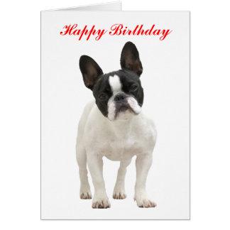 French Bulldog happy birthday greeting card