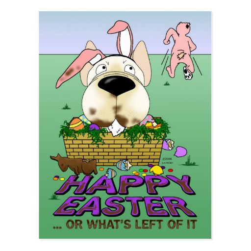 French Bulldog Happy Easter Postcard