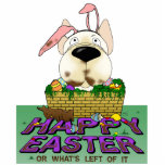 French Bulldog Happy Easter Sculpture Photo Cutout