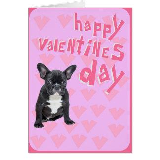 French Bulldog Happy Valentineu0026#39;s Day Greeting Card