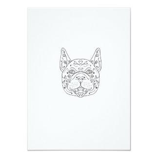 French Bulldog Head Mandala Card