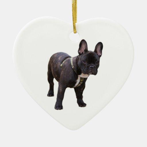 French Bulldog Heart Ornament, gift idea