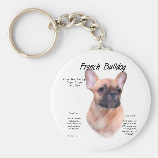 French Bulldog History Design Keychain