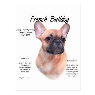 French Bulldog History Design Postcard