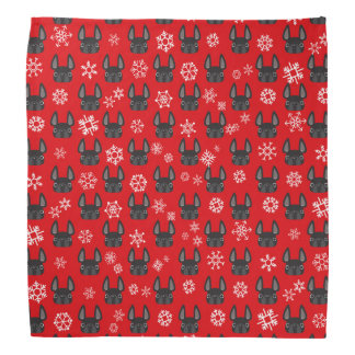 French Bulldog Holiday Bandana - Red