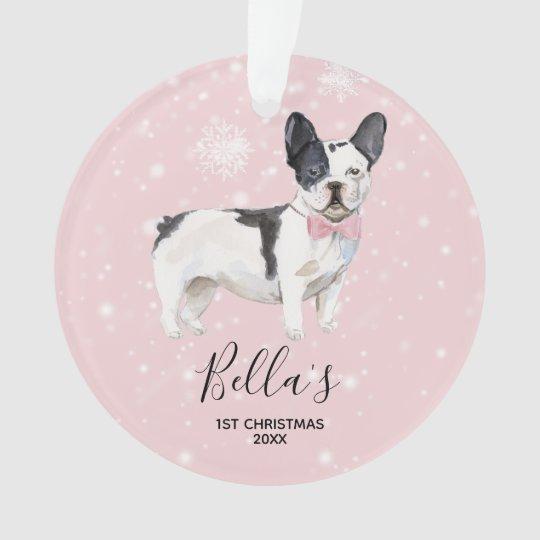 French Bulldog Christmas Ornament.French Bulldog Holiday Christmas Ornament Frenchie