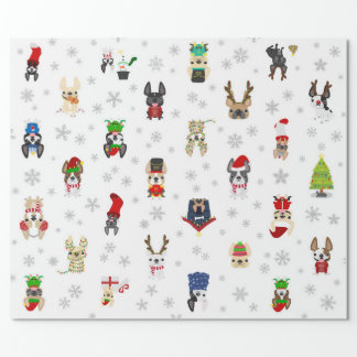 French Bulldog Holiday Christmas Wrapping Paper
