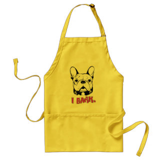 """French Bulldog Humor T Shirt """"I Bark"""" Adult Apron"""