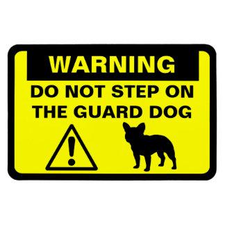 French Bulldog Humorous Guard Dog Warning Rectangular Photo Magnet