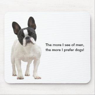 French bulldog humour, fun mousepad, gift idea mouse pad