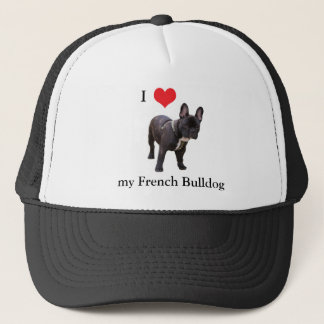 French Bulldog, I love heart, cap, hat, gift idea Trucker Hat