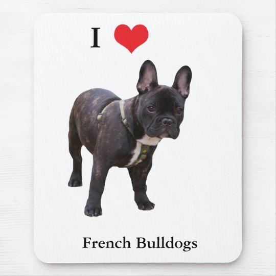 French Bulldog I love heart, mousepad, gift Mouse Pad