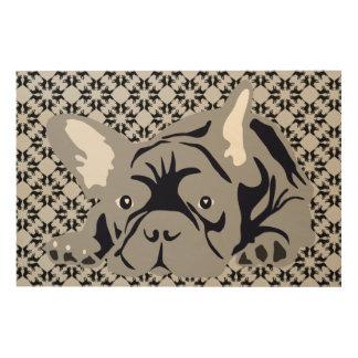 French Bulldog Illustration Wood Wall Art