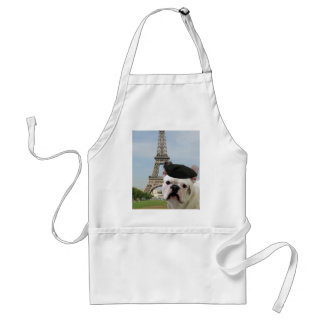 French Bulldog in Paris Adult Apron