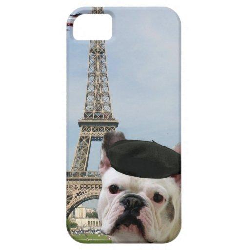 French bulldog in Paris iPhone 5 Case