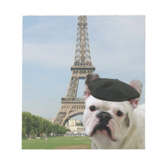 French Bulldog in Paris Notepad