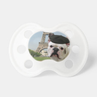 French Bulldog in paris Pacifier