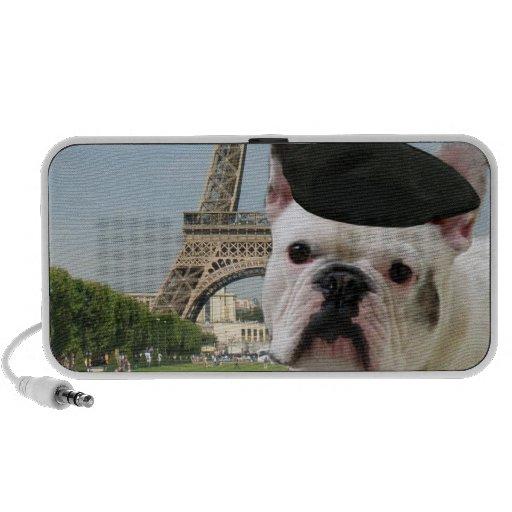 French bulldog in Paris Portable Speakers