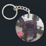"French Bulldog Keychain<br><div class=""desc"">It&#39;s me,  Dexter the Dogster! You&#39;ll lose track of your keys again when my cute mug is attached to them!</div>"