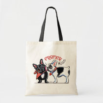 French Bulldog Kiss Tote Bag