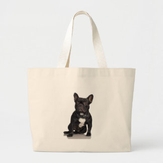 French Bulldog Large Tote Bag