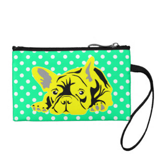 French Bulldog Lines Coin Purses