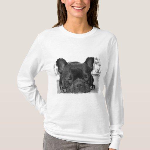 French bulldog long sleeve t shirt zazzle for French cut shirt sleeve
