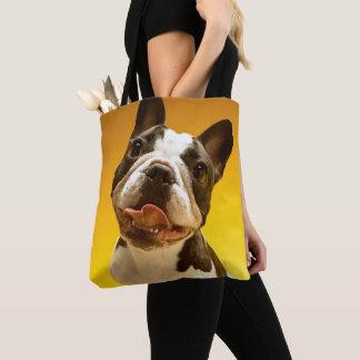 French Bulldog Looking Up Tote Bag