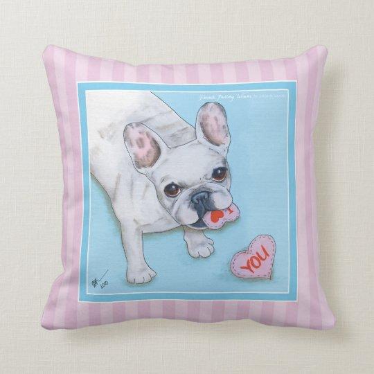 French Bulldog Love 1 Throw Pillow