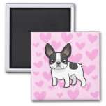 French Bulldog Love 2 Inch Square Magnet