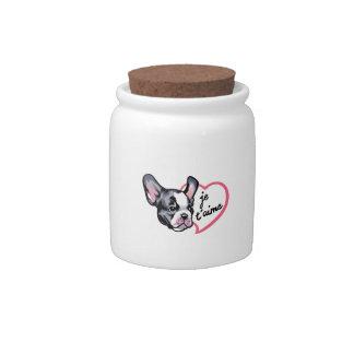 FRENCH BULLDOG LOVE CANDY JAR