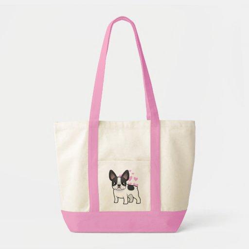 French Bulldog Love Canvas Bags