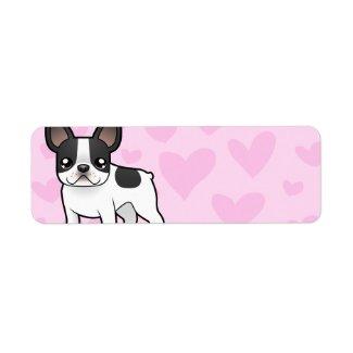 French Bulldog Love Custom Address Label