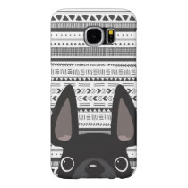 French Bulldog Love Geo Case Black Mono